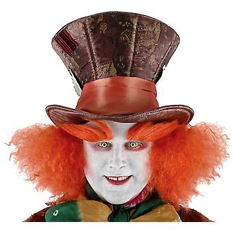 Disney Madhatter Hat W/Hair For Adults