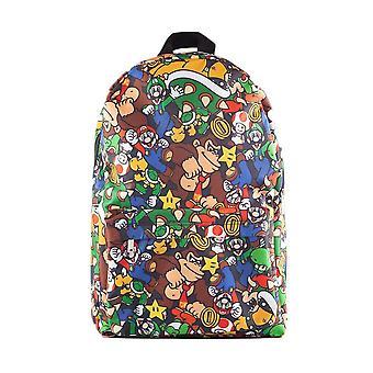 Super Mario Bros Postavy AOP laptop batoh