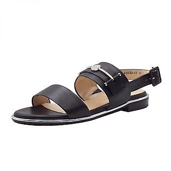 彼得凯撒鲁纳低脚跟开放凉鞋在黑色