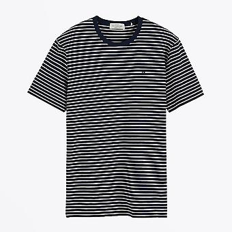 Scotch & Soda  - Classic Striped Tee - Navy/White