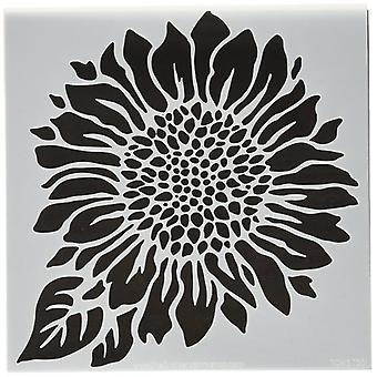 The Crafter's Workshop Joyful Sunflower 6x6 Inch Stencil
