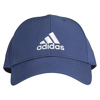 adidas Mens Kids Lightweight Baseball Cap Hat Navy Blue/White