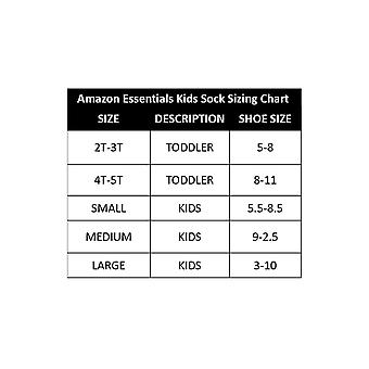 Essentials Kids' 10-Pack Cotton Crew Sock, White/Grey Heather Heel, Toe, 3