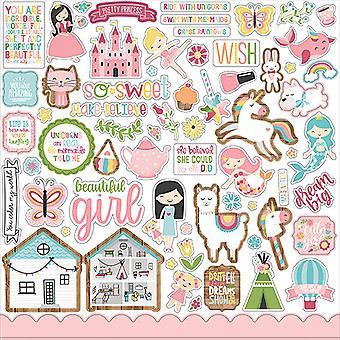 Echo Park All Girl 12x12 Pollici Elemento Adesivo
