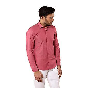Prickmönstrad rosa skjorta | wessi
