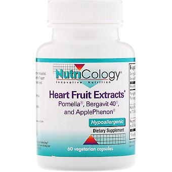 Nutricology, Heart Fruit Extracts, 60 Vegetarian Capsules