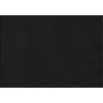 Zwarte schil/afdichting C4/A4 gekleurde zwarte enveloppen. 120gsm luxe FSC gecertificeerd papier. 229mm x 324mm. Pocket stijl envelop.