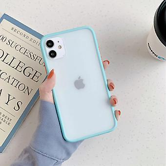 スタッフ認定®iPhone 11プロバンパーケースケースカバーシリコーンTPUアンチショックライトブルー