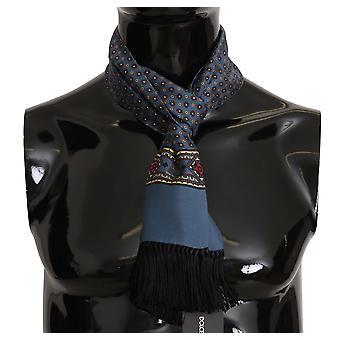 Dolce & Gabbana Albastru Model Tassel Silk Mens Eșarfă MS5127