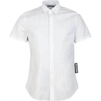 Moschino Couture Short Sleeved Big Tab Logo Shirt