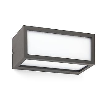 Faro Tejo - 1 Lichte Buitenmuur Licht Donkergrijs IP54, E27