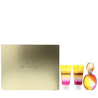 Missoni Eau de Toilette 50ml, Shower Gel 50ml, Body Lotion 50ml Gift Set For Her
