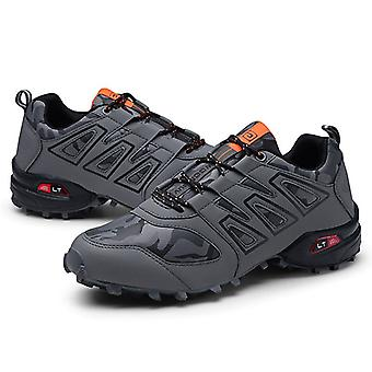 Men Sneakers Lace-Up Breathable Round Toe Trekking Climbing Shoes