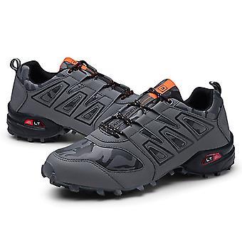 Zapatillas deportivas para hombre con cordones, zapatos de escalada de pie redondo transpirables