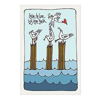 Galerie Thea Tea Towel, Love by the Sea