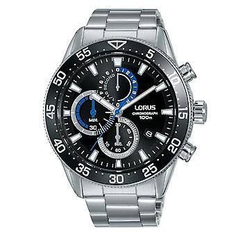 Lorus Mens Chronograph Dress Watch With Stainless Steel Bracelet (RM335FX9)