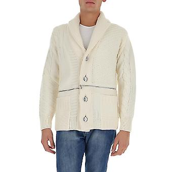 Alexander Mcqueen 603248q1apg9078 Men's White Wool Cardigan