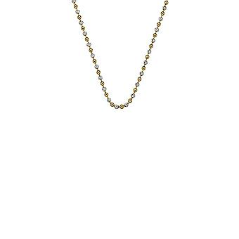 """Emozioni 18"""" Sterling Silver Yellow Gold Bead Chain CH046 Emozioni 18"""" Sterling Silver Yellow Gold Bead Chain CH046"""