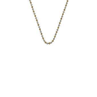 """Emozioni 18 """"sterling zilver geel goud kraal ketting CH046"""