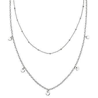 بدايات الجنيه الاسترليني الفضة مزدوجة الصف ميني قلادة القرص N4377