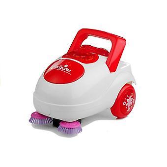 Spielzeugstaubsauger mit Lichtern - weiß und rot