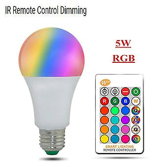 Dimmable E27 Led Lamp Rgb 15w Wifi Smart Bulb Bluetooth App Control Ir Remote Control For Home