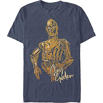 C-3PO Pobyt Golden Star Wars T-Shirt