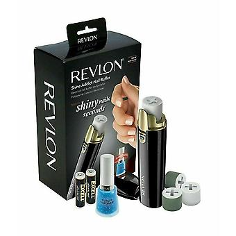Revlon Battery Powered Shine Addict Nail Buffer & Polisher Plus Cuticle Softener