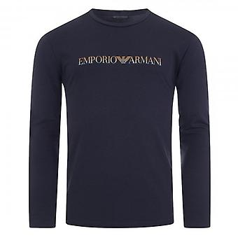 Emporio Armani Underwear Logo Stretch Long Sleeve T-Shirt Navy 111653 0A595