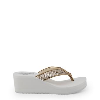 Us polo assn. 4199s8 women's paillettes wedge infradito