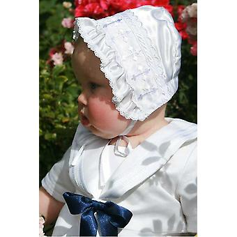 Christening Bonnet Grace-white Satin