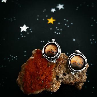 Mars og Måner Øreringe