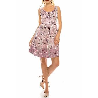 मल्टी फ्लोरल जैकायूर्ड ए-लाइन पार्टी ड्रेस