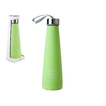 Summit B&Co 450ml Conical Bottle Flask Rubberised Apple Green