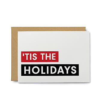 'tis The Holidays Holiday Note Card