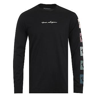True Religion Script Box Logo Black Long Sleeve T-Shirt