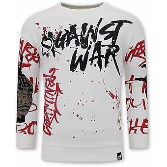 Graffiti Sweater - White