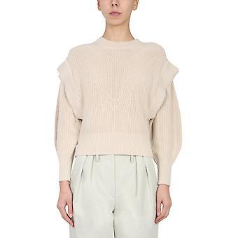 Iro Wp12kharlabei0121s Women's Beige Cotton Sweater