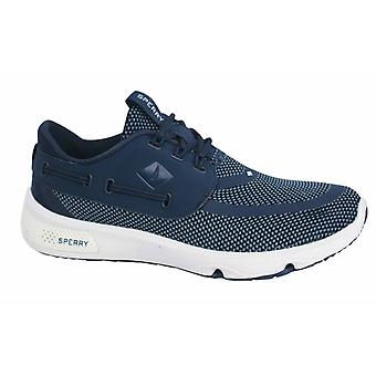 Sperry 7 Seas Lace Up Navy Mesh Textile Mens Trainers STS15527 B11B