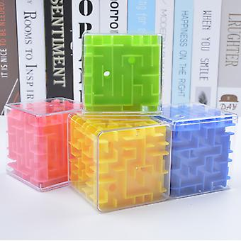 3d Maze Magic Speed Cube , Transparent Six Sided Puzzle, Rolling Ball Game