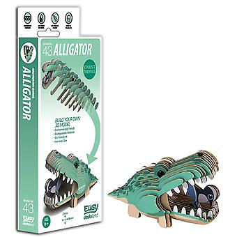 Eugy 3d alligator model, craft kit