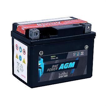 intAct YTX4L-BS Maintenance Free AGM Bike-Power Battery