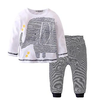 Baby Boys Striped Elephant Long Sleeve Shirt And Pants