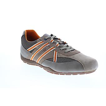 Geox U Ravex  Mens Gray Suede Lace Up Euro Sneakers Shoes