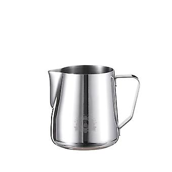 Stainless Steel Frothing Coffee Pitcher Pull Flower Cup Cappuccino Milk Frother