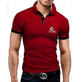 vår og sommer polo skjorte, menn's casual slank menn's pustende, kortermet