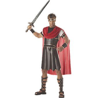 Mens Hercules romersk Gladiator Film & TV Fancy Dress kostym
