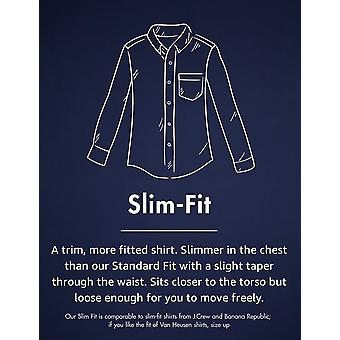 Goodthreads Men's Slim-Fit Long-Sleeve Gingham Plaid Poplin Shirt, Pink/Blue,...