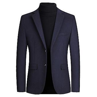 Mannen twee knopen pak blazer platte kraag pak jassen