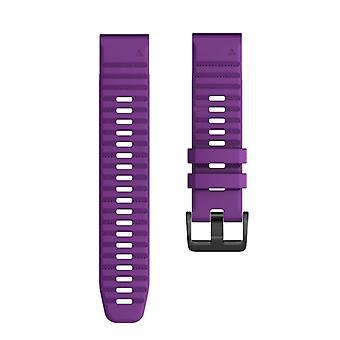 Для Garmin Fenix 6X 26mm Смарт-часы Быстрый релиз Силиконовой Wrist Strap Watchband (Purple)